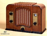Toimiva AM/FM Mini Radio 1:6 Lincoln-Italia Mitat k.8.3 x l.12 x s.5.5 cm. (FAR60)